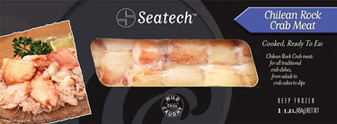 Seatech Chilean rock crab meat retail packaging
