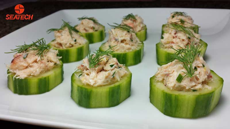 Crab English Cucumber Bites Seatech Corporation
