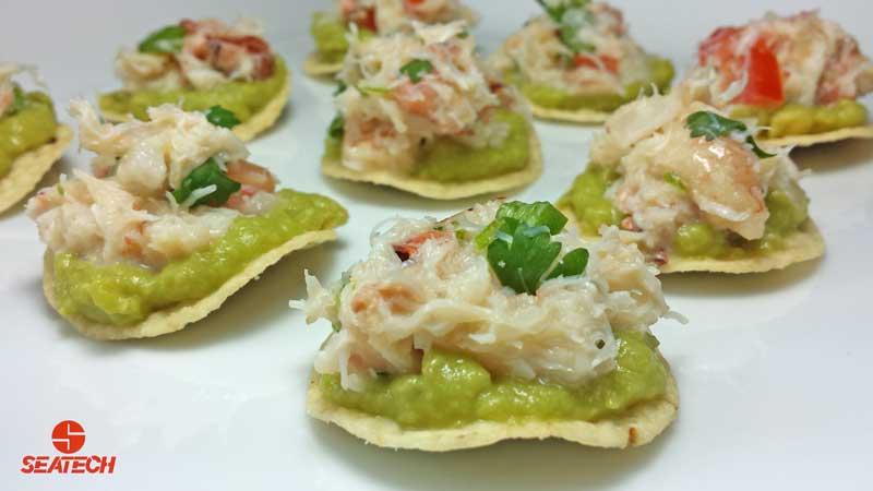 Mini Crab Tostadas | Seatech Corporation
